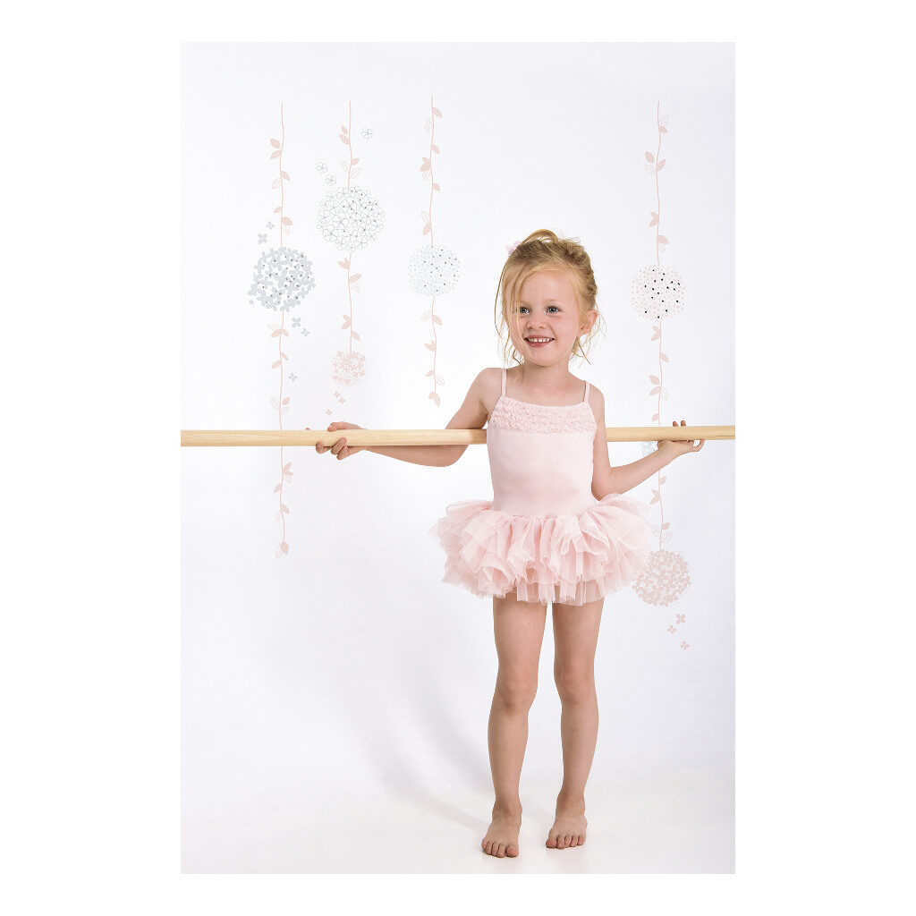 Flower Vines Sticker Xl Ballerina Lilipinso Decoratie Muur Kinderkamer Lili-S1134