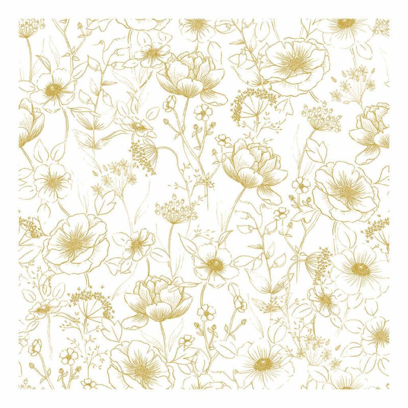 Flowers Gold Behang | Botany | Lilipinso