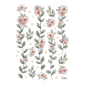 Flowers Muursticker A3 | Rosae | Lilipinso