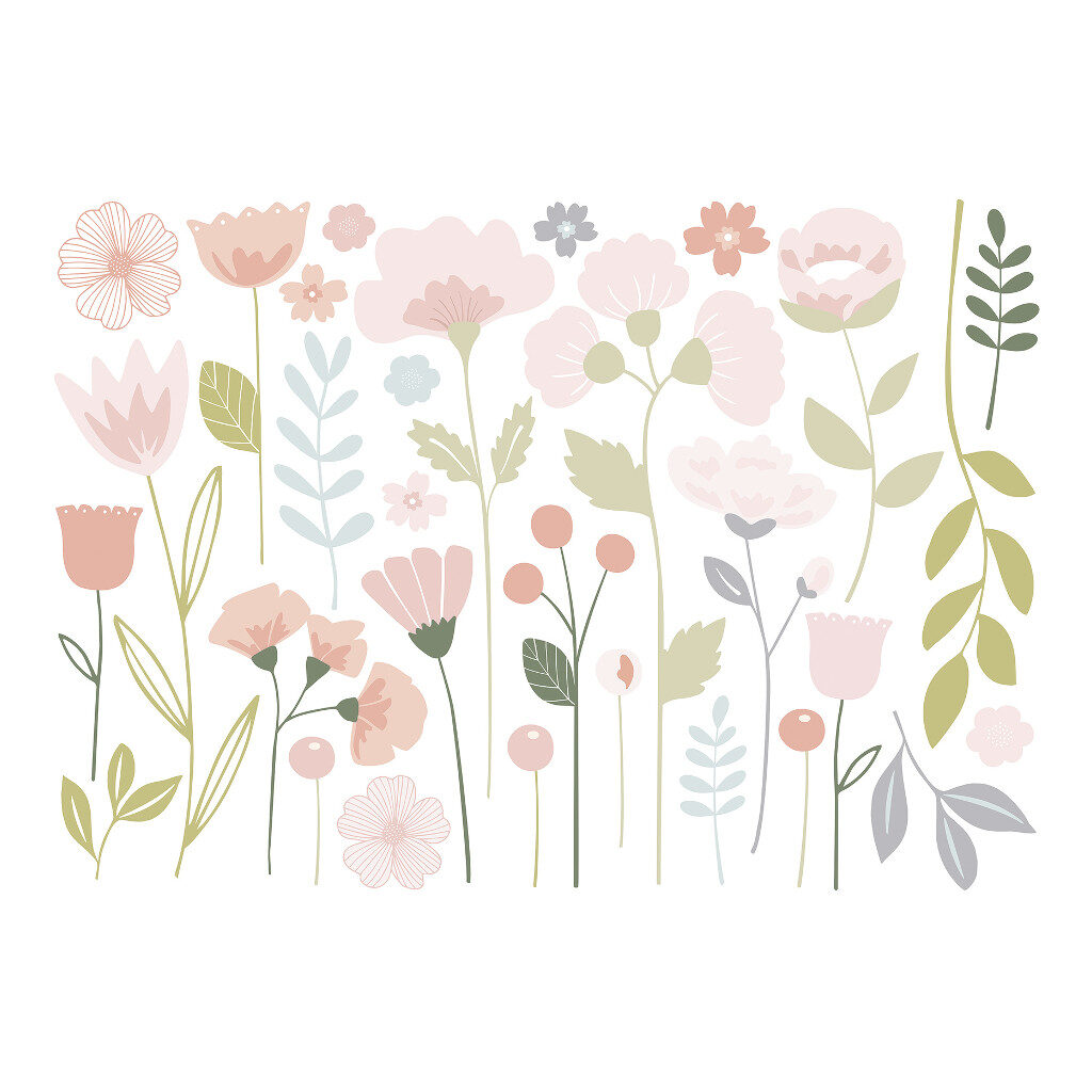 Flowers Stems Sticker Xl | Bloom | Lilipinso