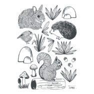 Forest Animals Muursticker A3 | Enchanted | Lilipinso