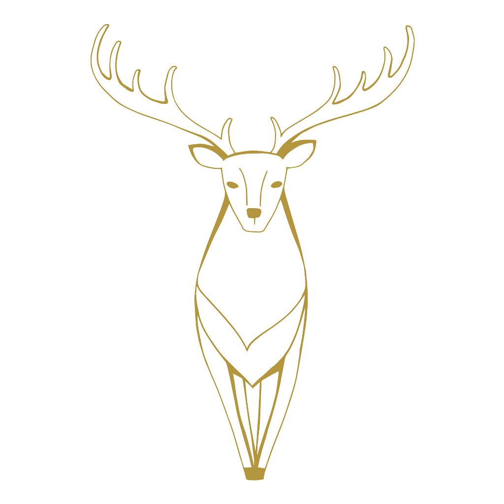Gold Deer Sticker Xl Nordic Lilipinso Hert Goud Lili-S1150