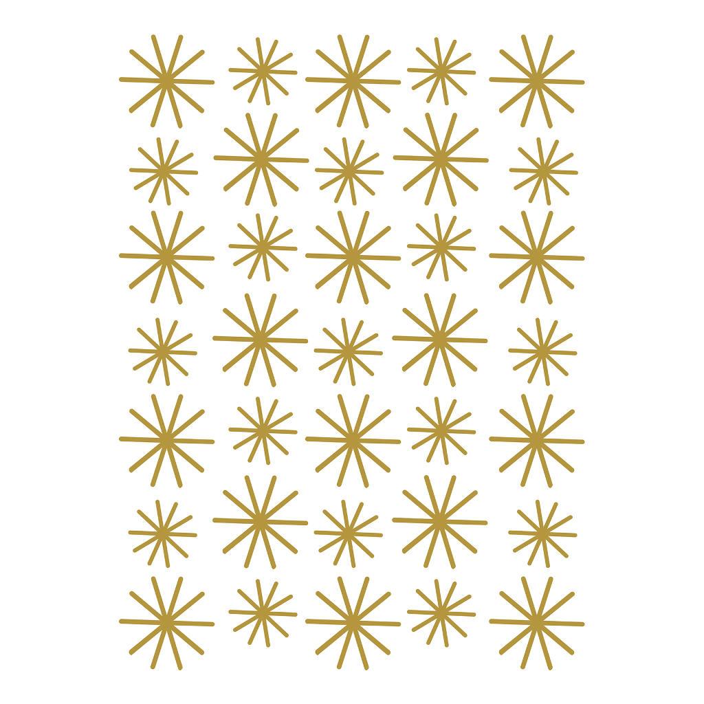 Gold Flakes Sticker 18X24Cm Nordic Lilipinso Gouden Sneeuw Vlokken Lili-S1145