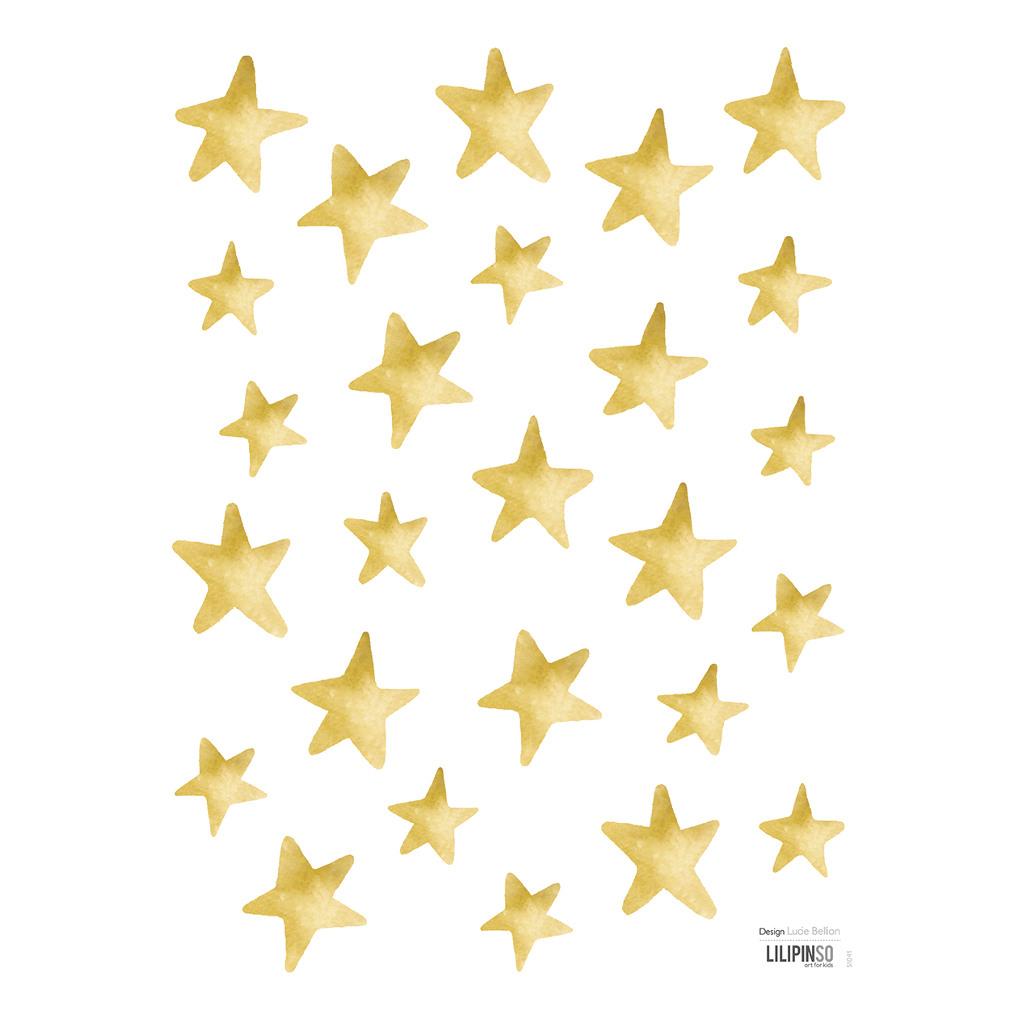 Gold Stars Sticker 18X24Cm Flamingo Lilipinso Sterren Goud Lili-S1041