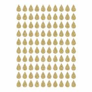Golden Drops Material Glitter Sticker 18X24Cm | Hello Little | Lilipinso