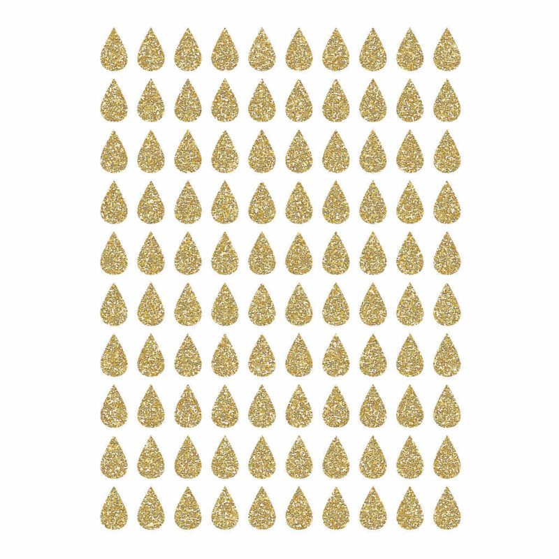 Golden Drops Material Glitter Sticker 18X24Cm   Hello Little   Lilipinso