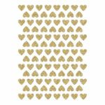 Golden Hearts Material Glitter Sticker 18X24Cm | Hello Little | Lilipinso