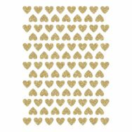 Golden Hearts Material Glitter Sticker 18X24Cm | Hello Little | Lilipinso