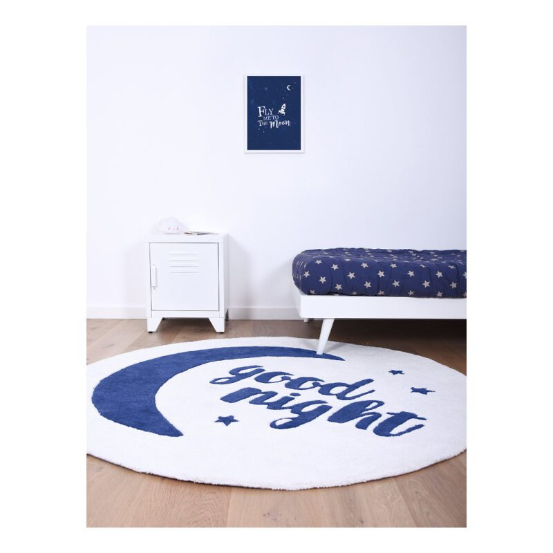 Good Night Vloerkleed Fly Me To The Moon Lilipinso Blauw Wit Lili-H0368