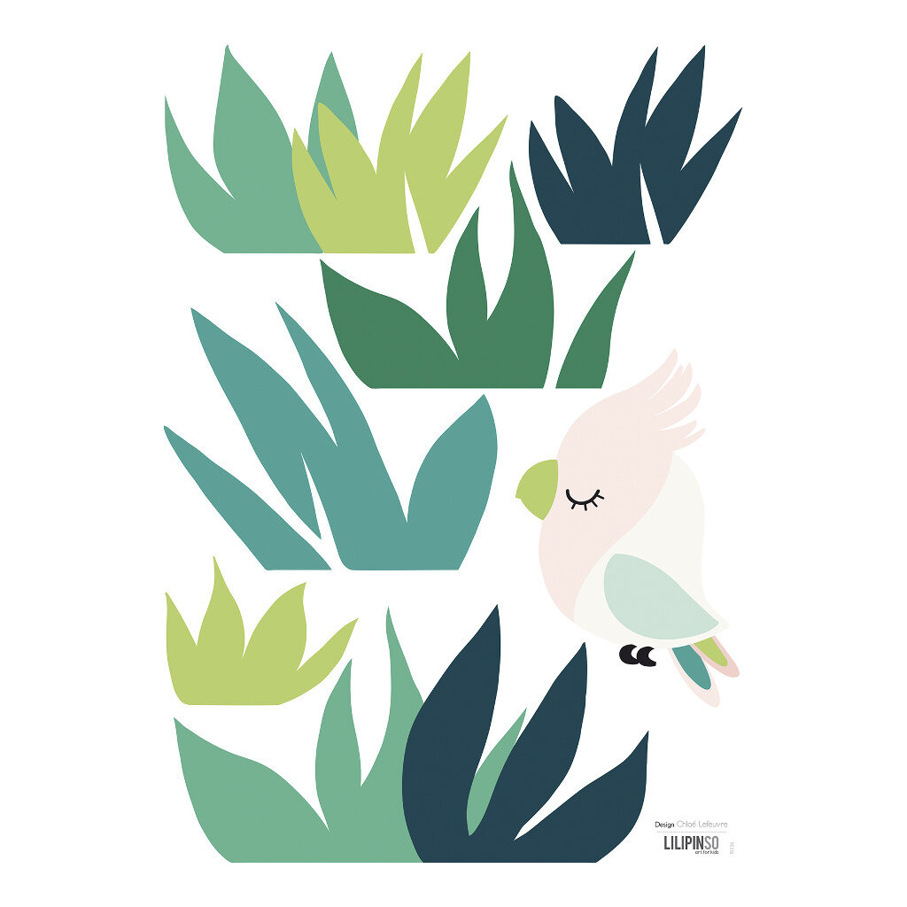 Grass & Small Bird Muursticker A3 | Tropica | Lilipinso