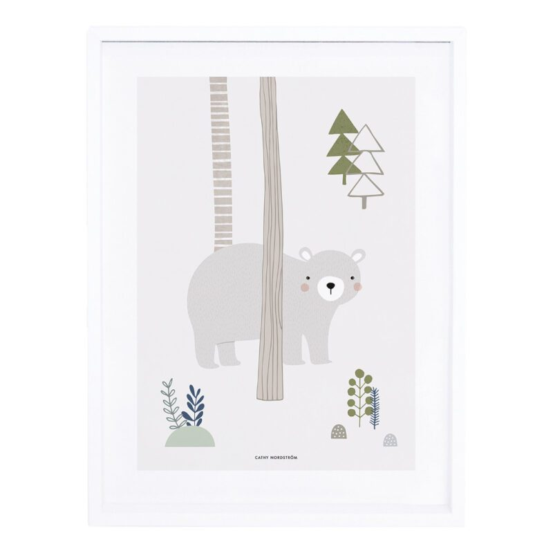 Grey Bear Cub Poster IntoThe Woods Lilipinso Afbeelding Beer QIDDIE.com lili-P0207c