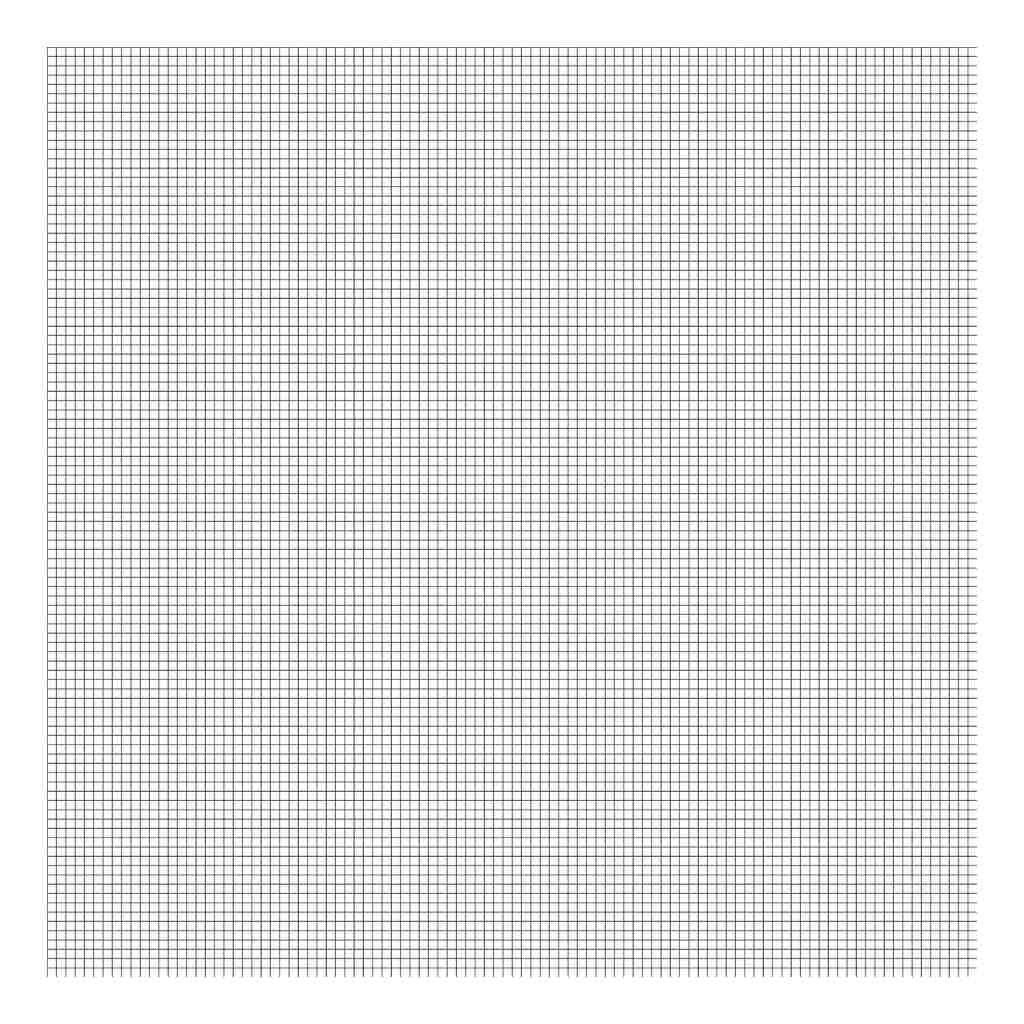 Grid Black On White 0.5Cm Behang | Millimétré | Lilipinso