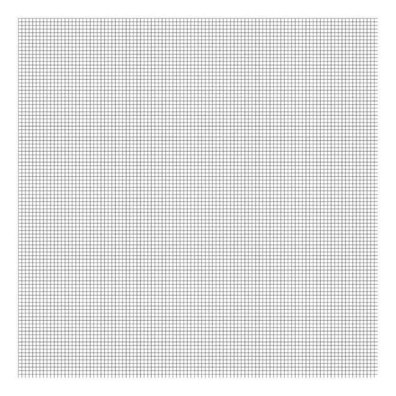 Grid Black On White 0.5Cm Behang   Millimétré   Lilipinso