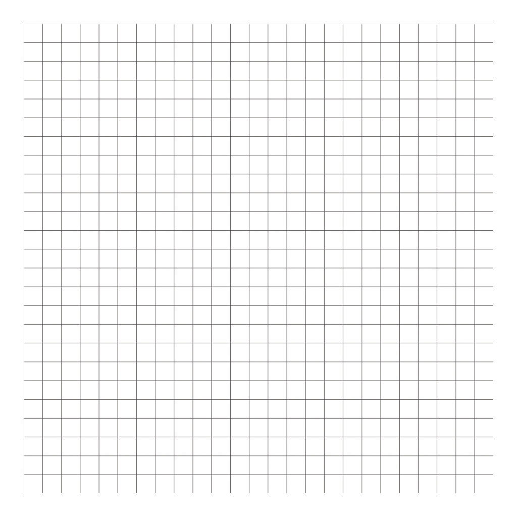 Grid Black On White 2Cm Behang | Millimétré | Lilipinso