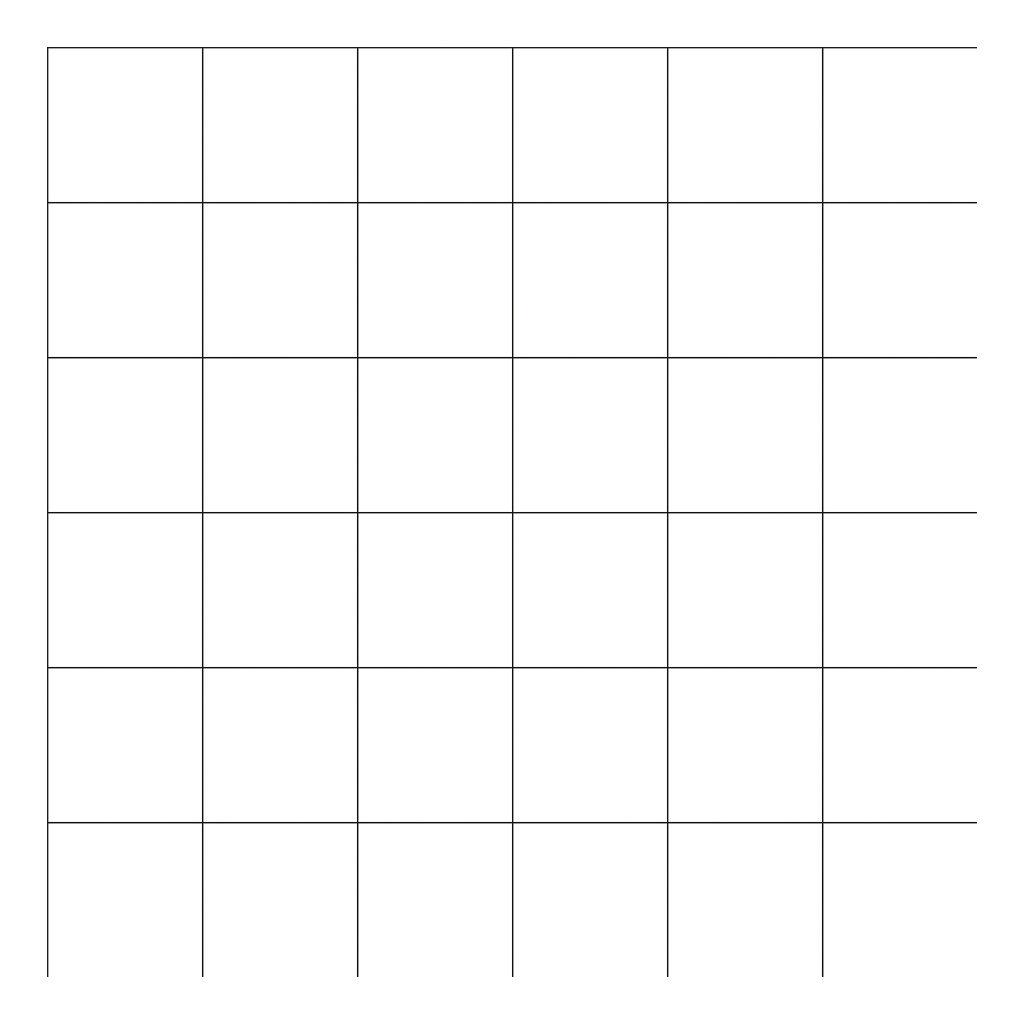 Grid Black On White 8Cm Behang | Millimétré | Lilipinso