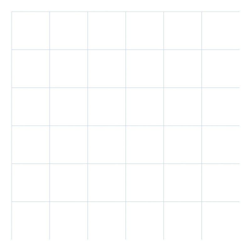 Grid Blue On White 8Cm Behang | Millimétré | Lilipinso