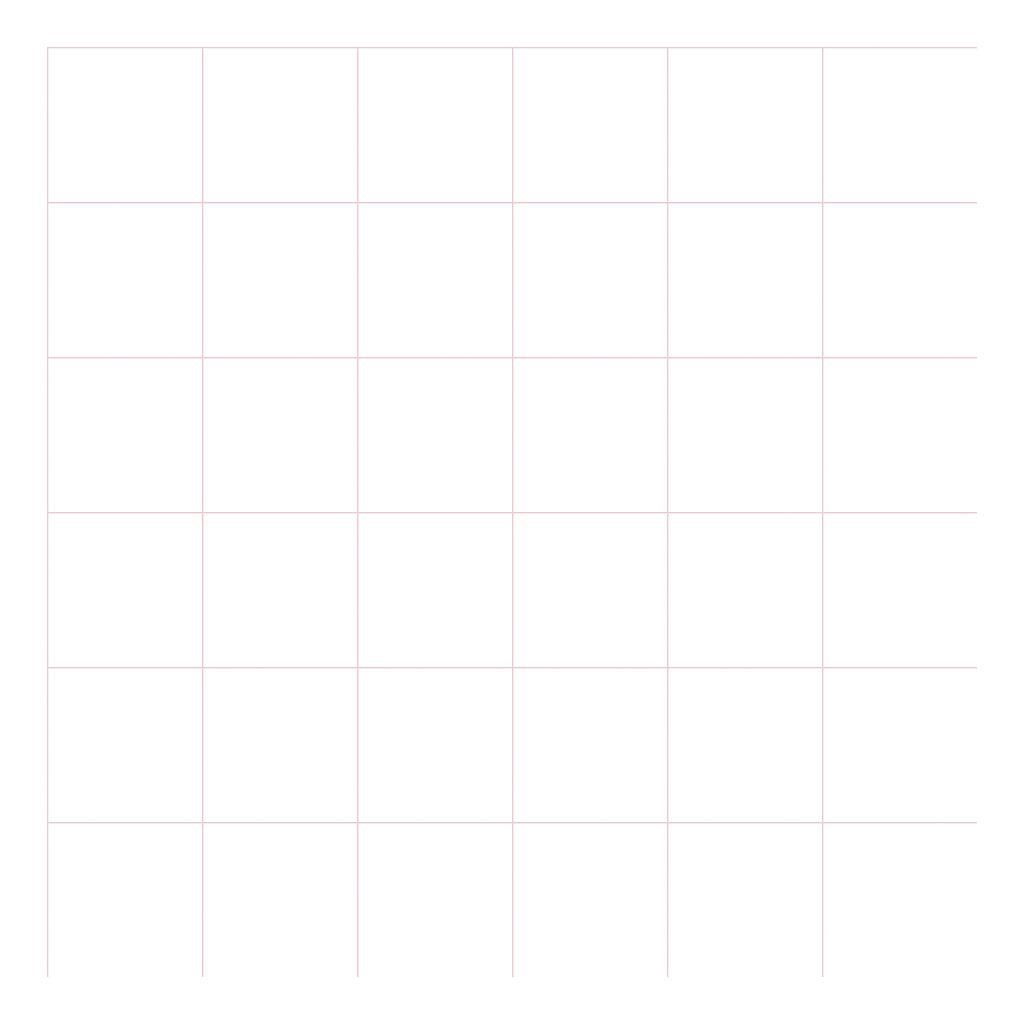 Grid Pink On White 8Cm Behang | Millimétré | Lilipinso