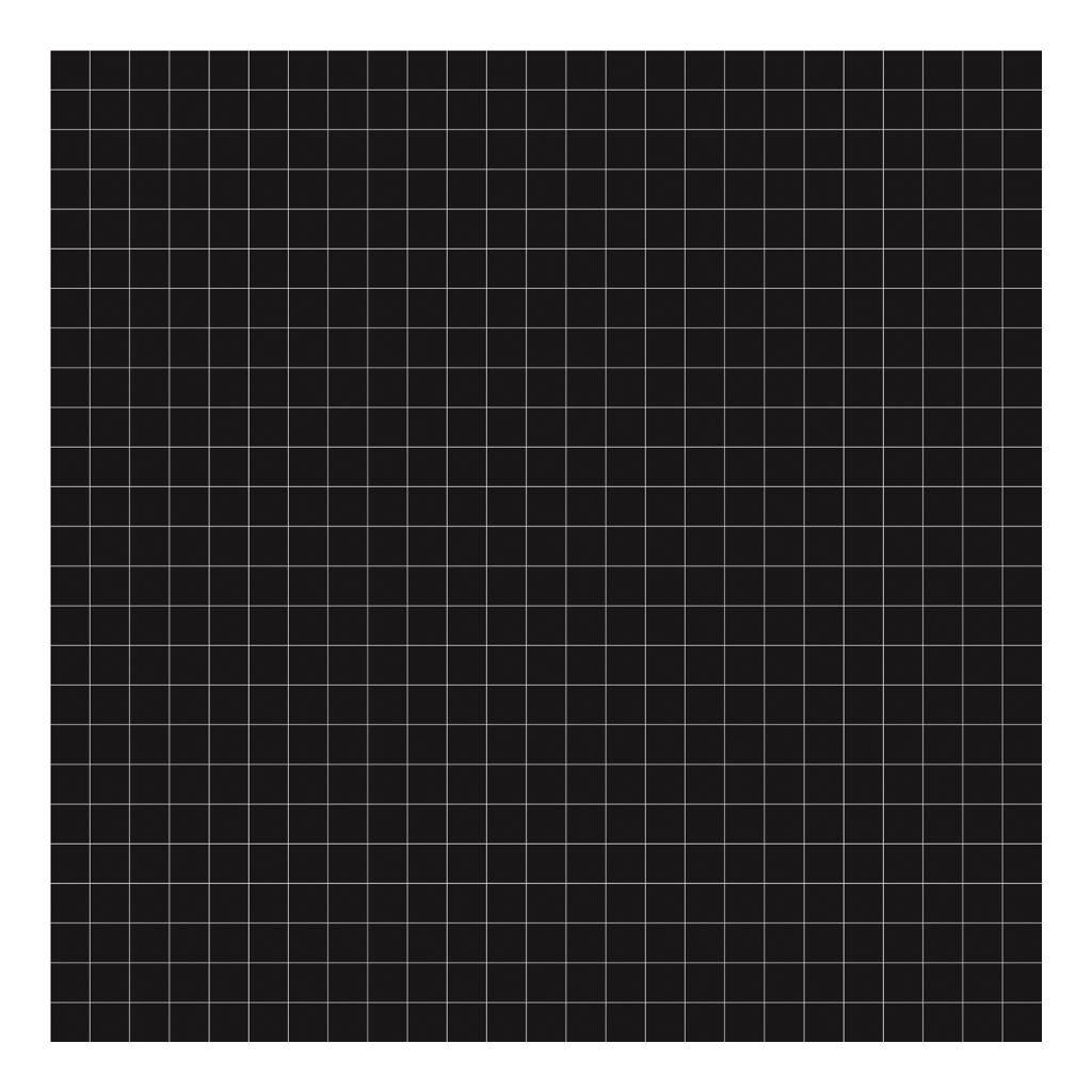 Grid White On Black 2Cm Behang | Millimétré | Lilipinso
