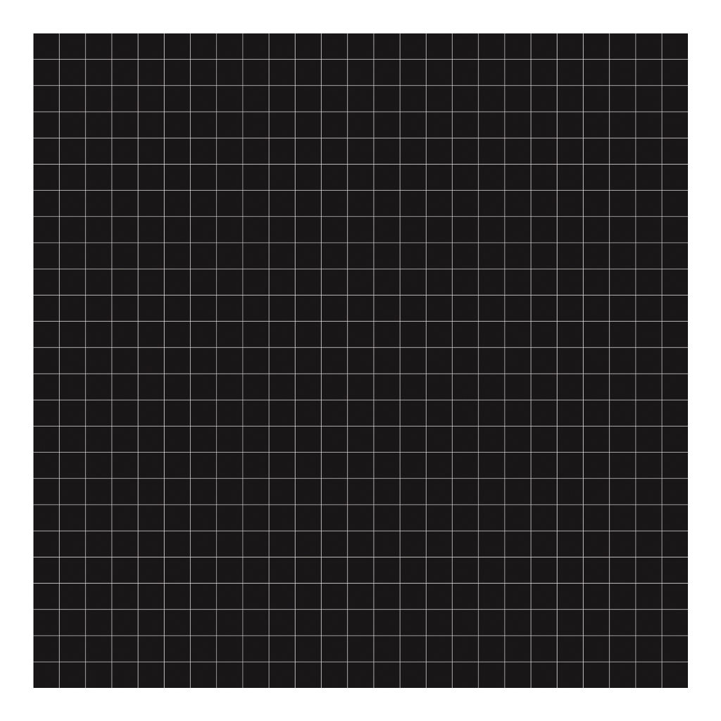 Grid White On Black 2Cm Behang | Millimétré | Lilipinso