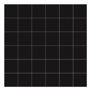 Grid White On Black 8Cm Behang | Millimétré | Lilipinso