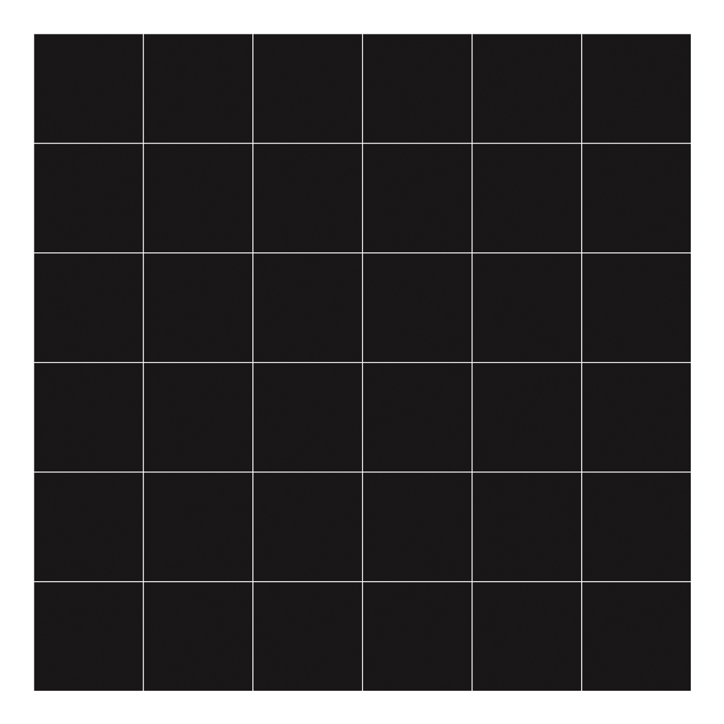 Grid White On Black 8Cm Behang | Millimétré | Lilipinso