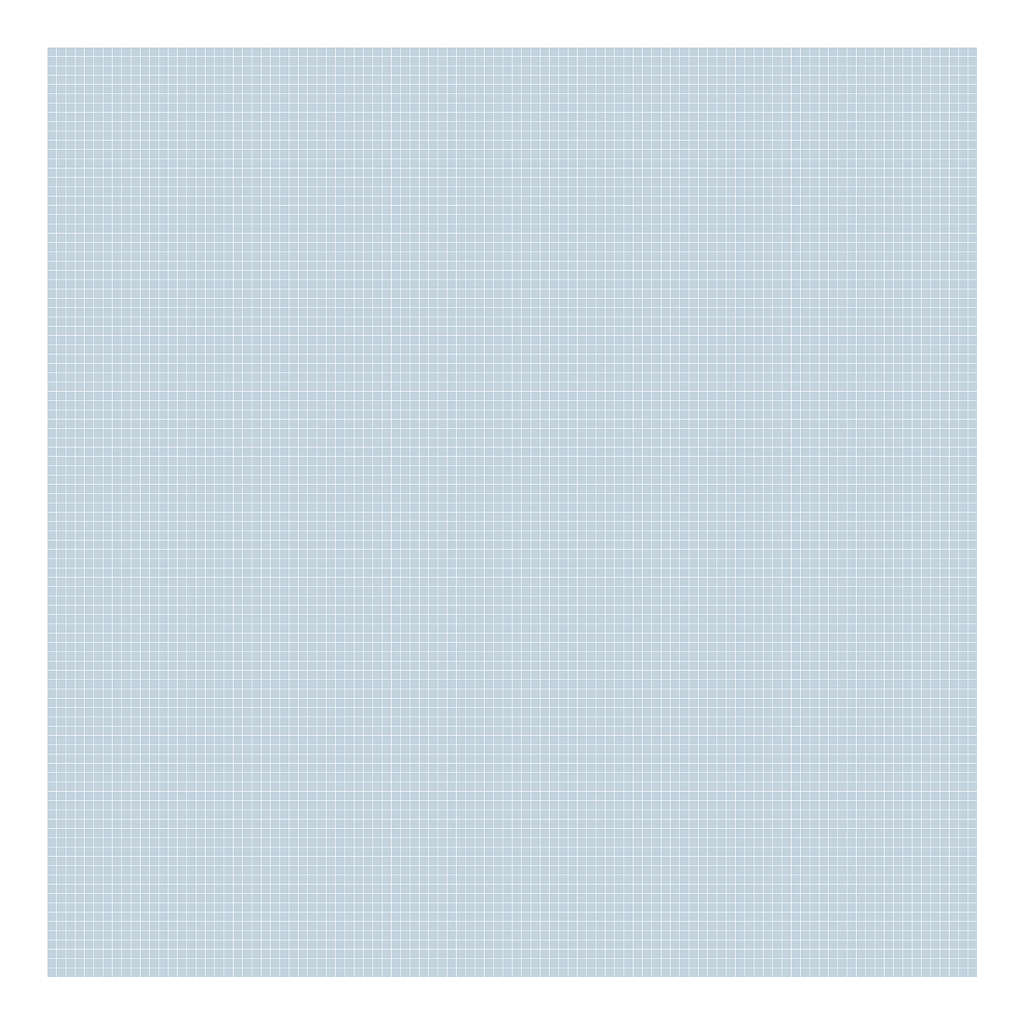 Grid White On Blue 0.5Cm Behang | Millimétré | Lilipinso