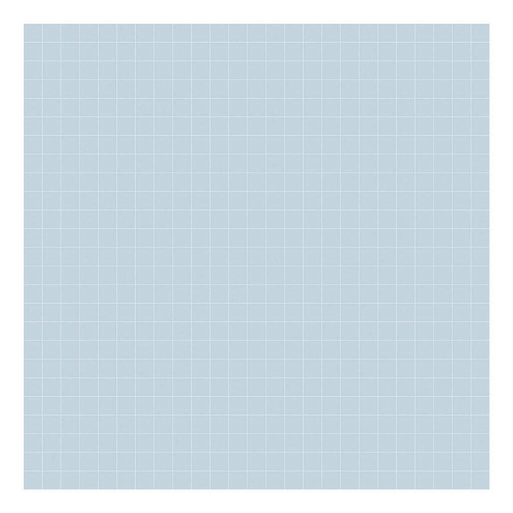 Grid White On Blue 2Cm Behang   Millimétré   Lilipinso