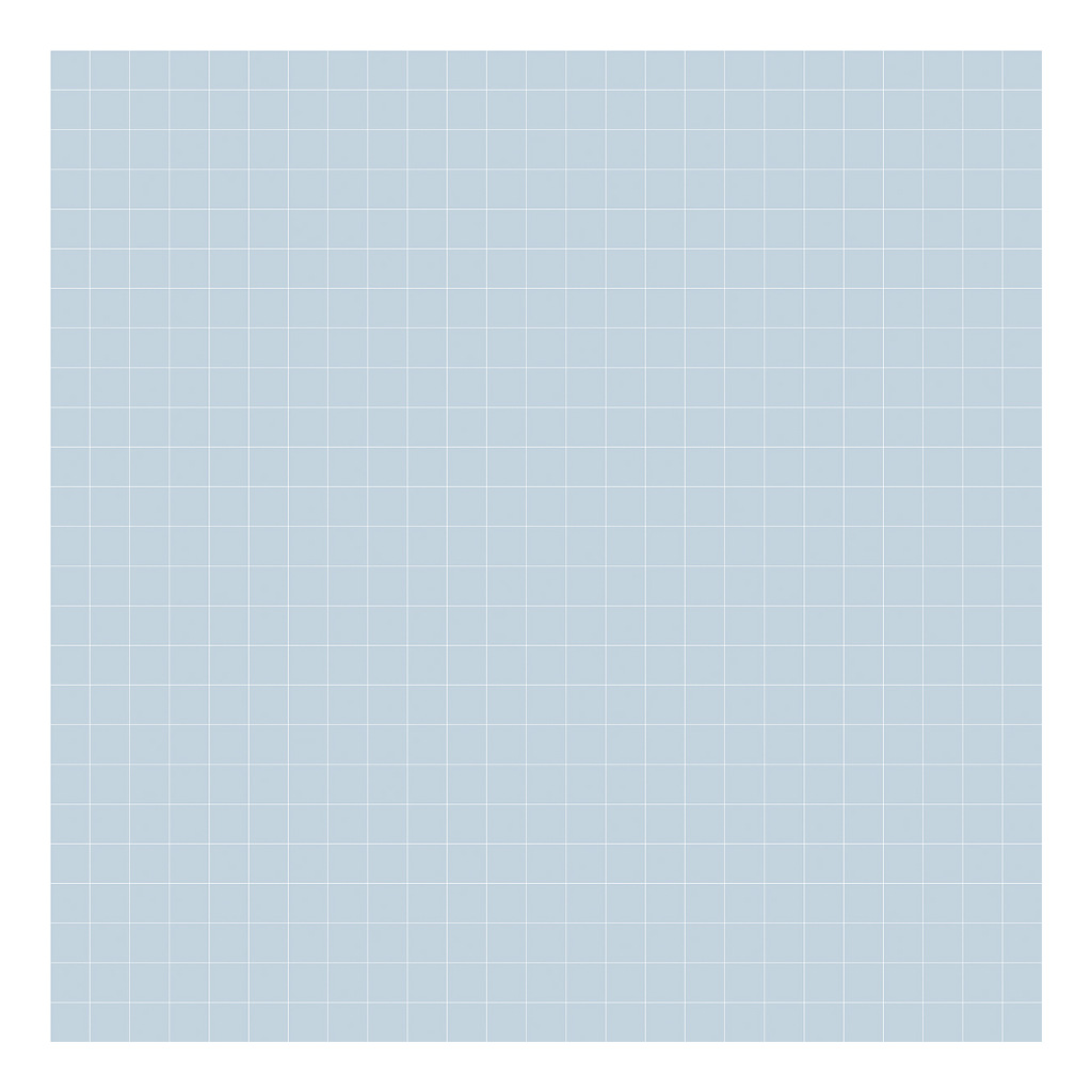 Grid White On Blue 2Cm Behang | Millimétré | Lilipinso