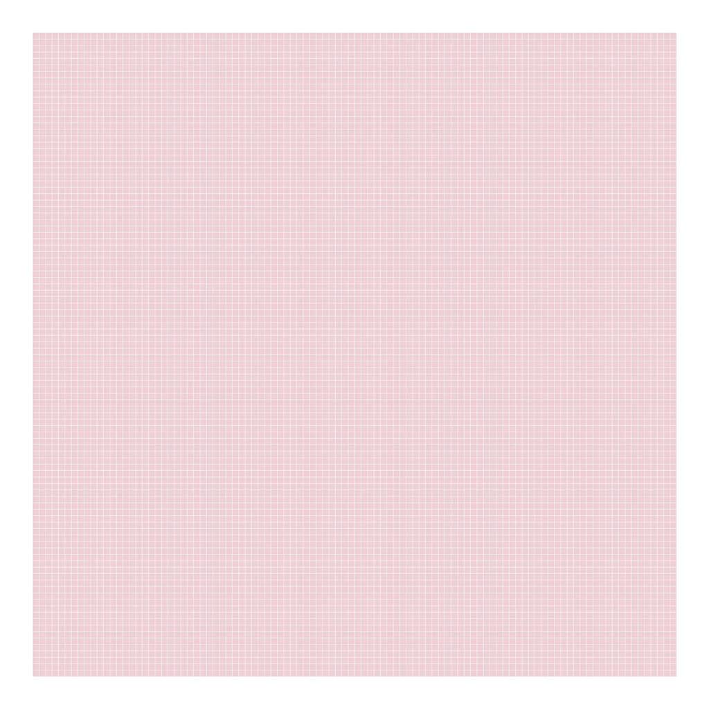 Grid White On Pink 0.5Cm Behang | Millimétré | Lilipinso