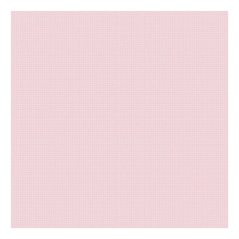 Grid White On Pink 0.5Cm Behang   Millimétré   Lilipinso