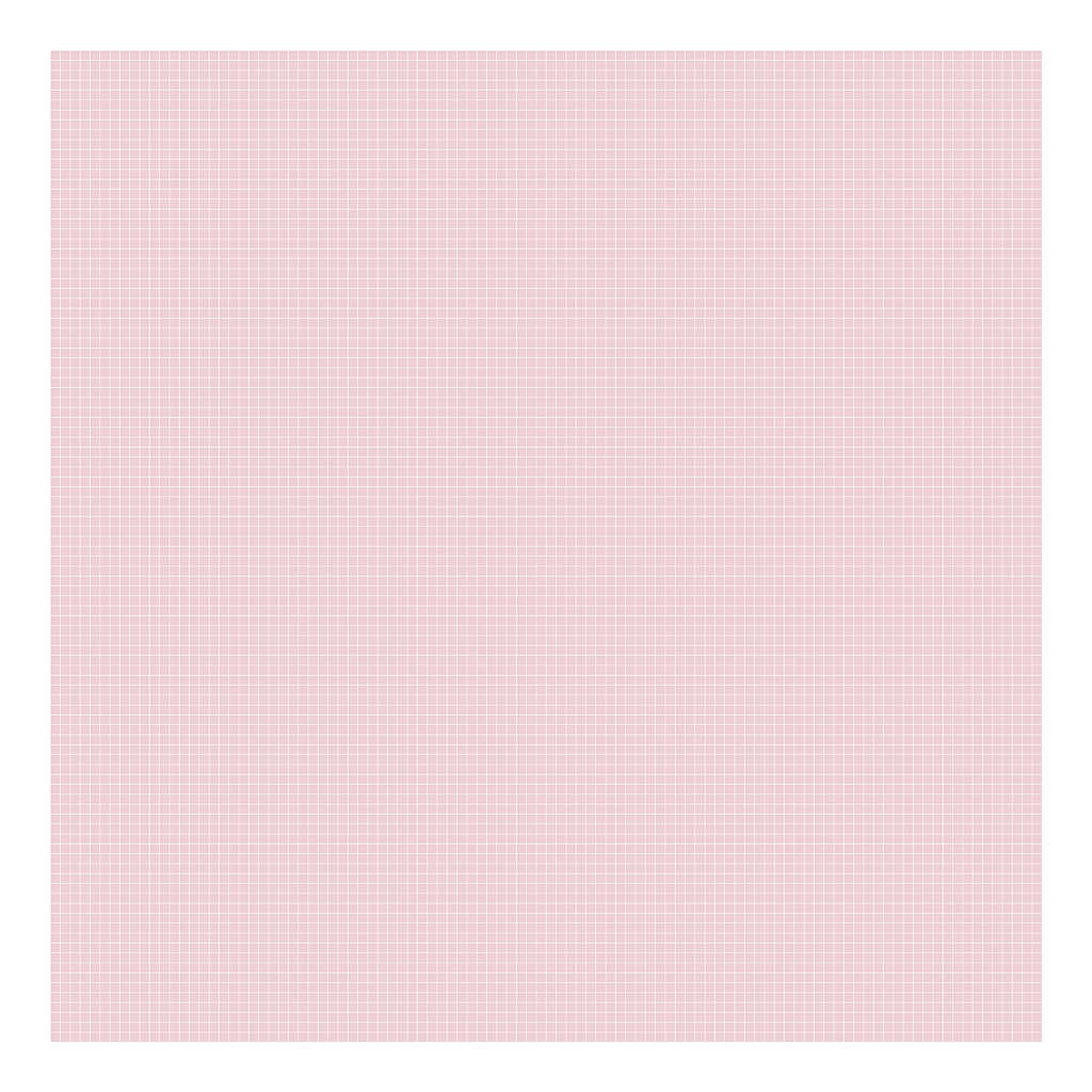 Grid White On Pink 0.5Cm Behang | Millimétré | Lilipinso