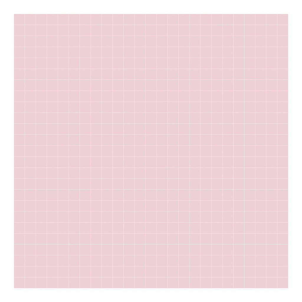 Grid White On Pink 2Cm Behang | Millimétré | Lilipinso