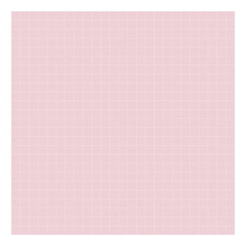 Grid White On Pink 2Cm Behang | Millimétré | Lilipinso