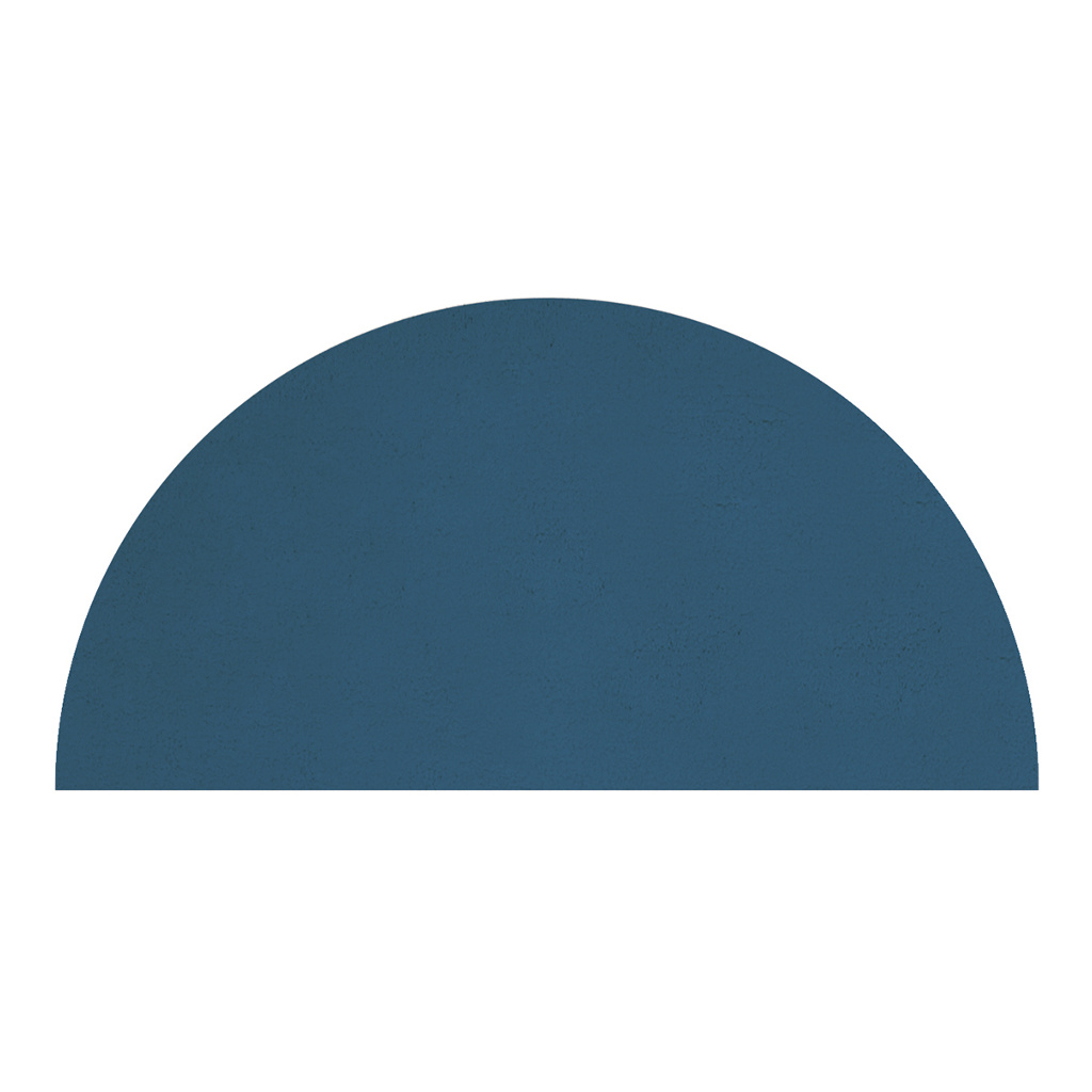 Half-Moon Majolica Blue Vloerkleed | Wild Islands | Lilipinso