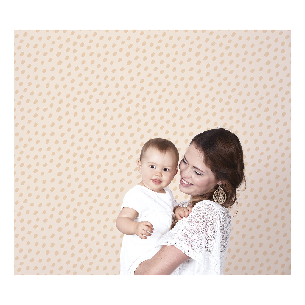 Hand Dots Coral Background Coral Behang | Australia | Lilipinso