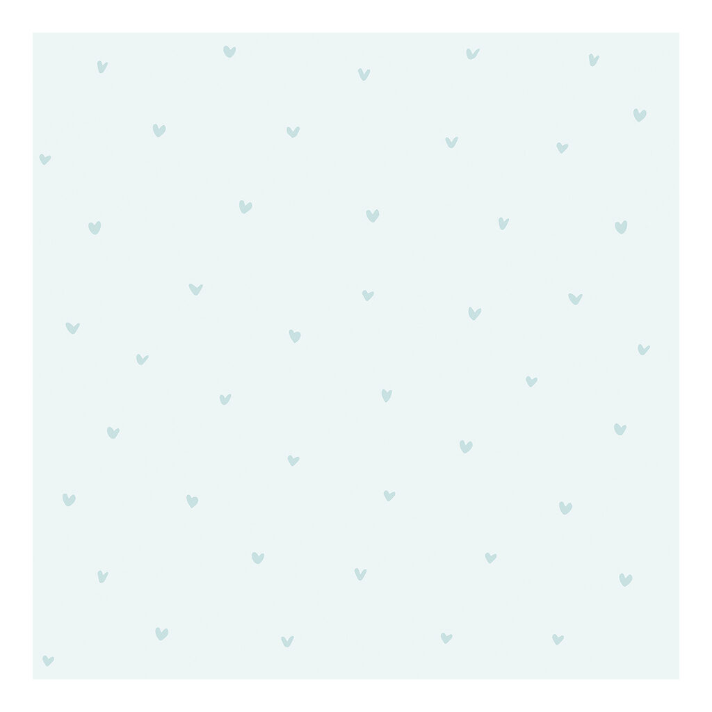 Hearts Blue Background Blue Behang | Retro Bubble | Lilipinso