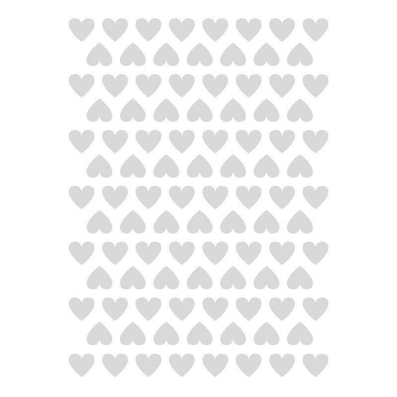 Hearts Grey Sticker 18X24Cm   Hello Little   Lilipinso