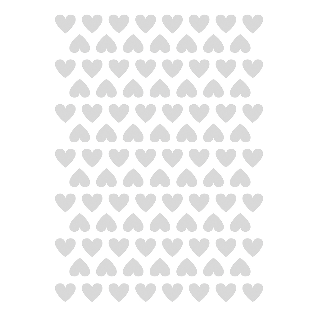 Hearts Grey Sticker 18X24Cm | Hello Little | Lilipinso