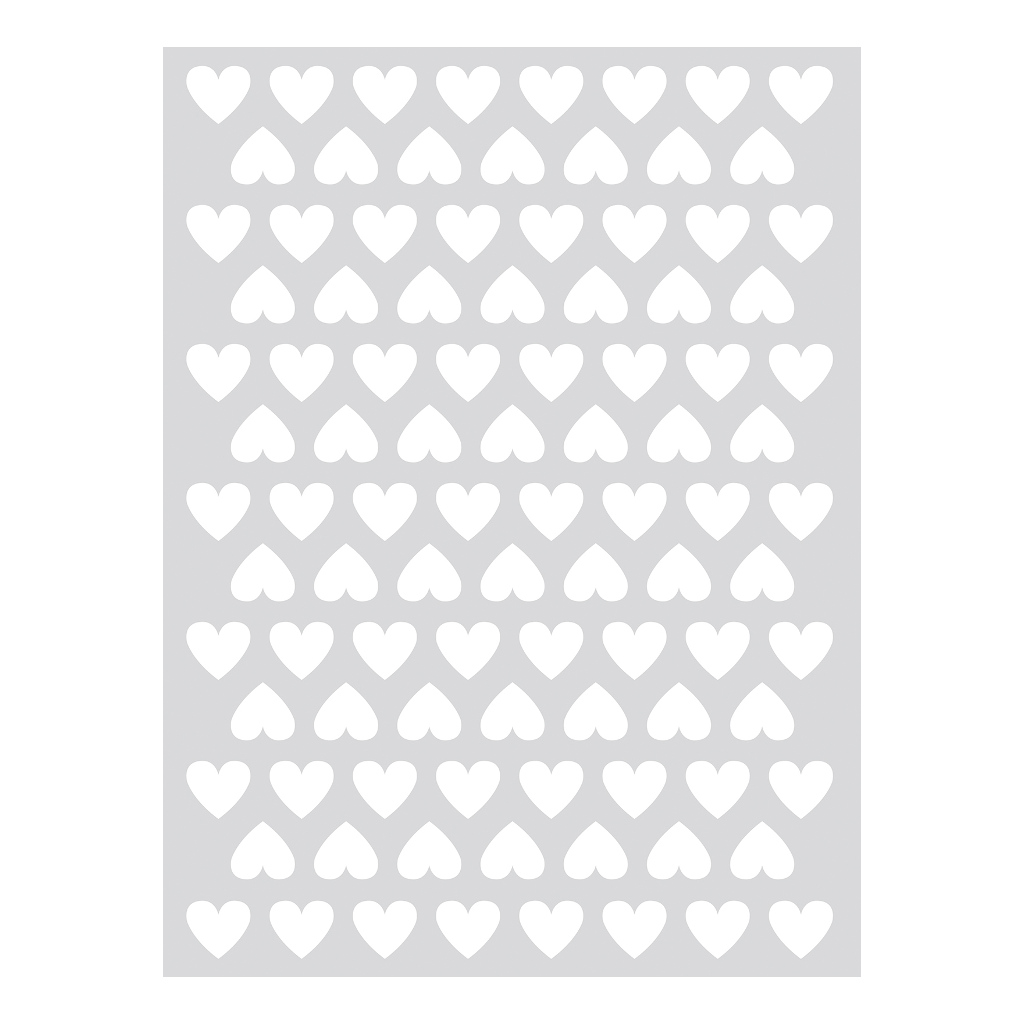 Hearts White Sticker 18X24Cm | Hello Little | Lilipinso