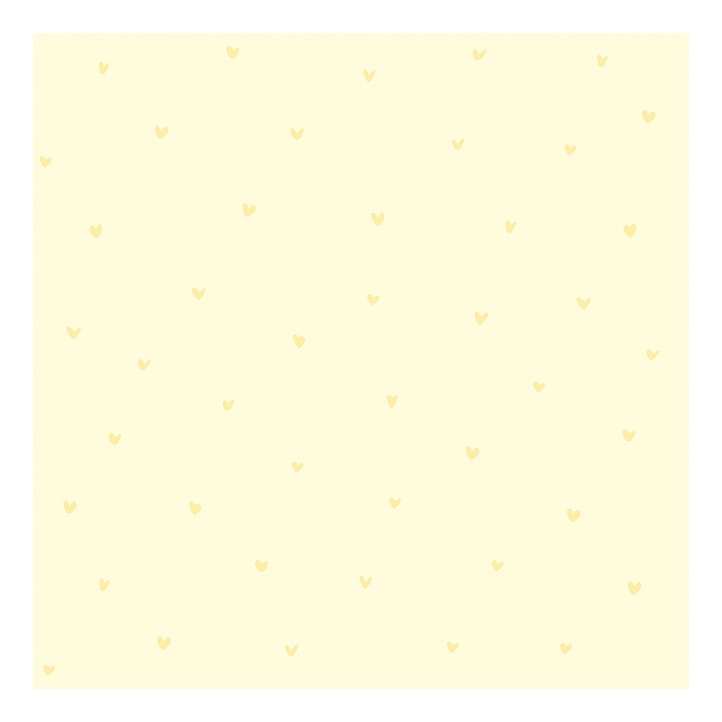 Hearts Yellow Background Yellow Behang   Retro Bubble   Lilipinso
