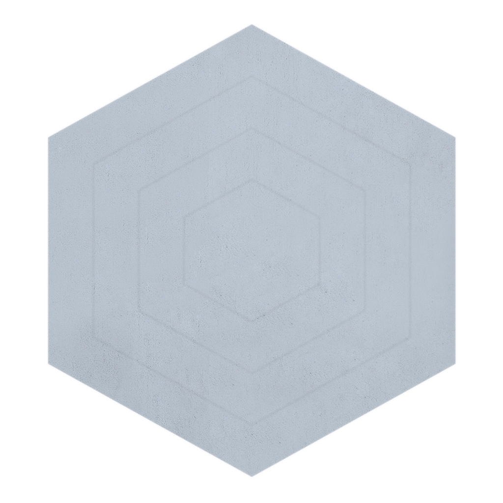 Hexagonal Celestial Blue Vloerkleed | Wild Islands | Lilipinso
