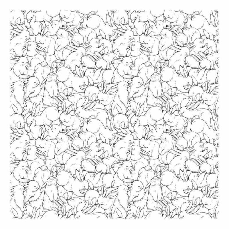 Hundred Bunnies Behang | Bunny | Lilipinso
