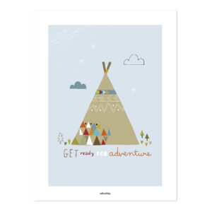 Indian Teepee Poster | Little Indians | Lilipinso