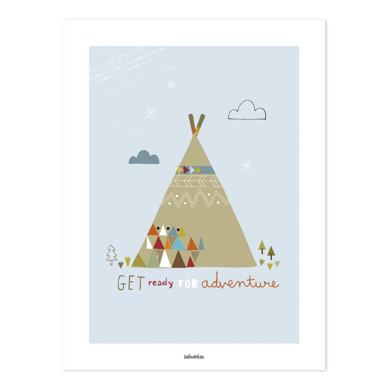 Indian Teepee Poster   Little Indians   Lilipinso