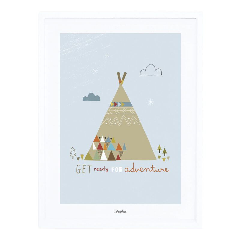 Indian Teepee Poster Met Lijst Little Indians Lilipinso lili-p0274