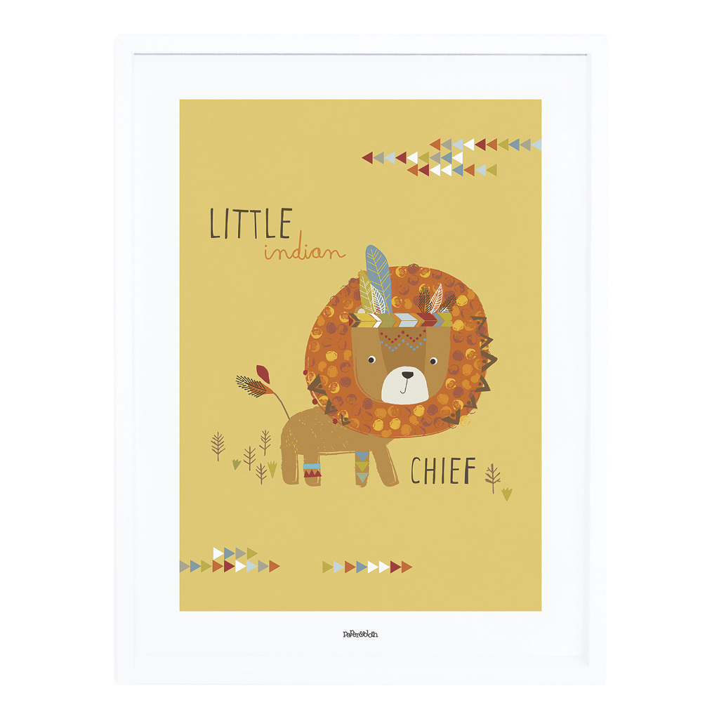 Indians The Little Chief Poster Met Lijst Little Indians Lilipinso lili-p0273