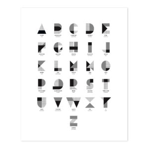 L'Alphabet Poster Millimétré Lilipinso lili-p0269