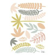 Leaves Coral Muursticker A3 | Australia | Lilipinso