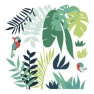 Leaves Tropical Decor 02 Sticker Xl | Lilipinso