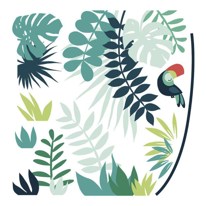 Leaves Tropical Decor 03 Sticker Xl   Lilipinso